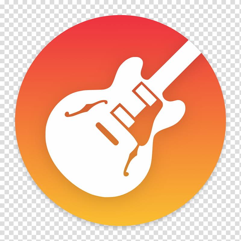 Clay OS A macOS Icon, GarageBand, white jazz guitar logo transparent.