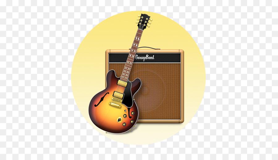 Garageband Acoustic Electric Guitar png download.