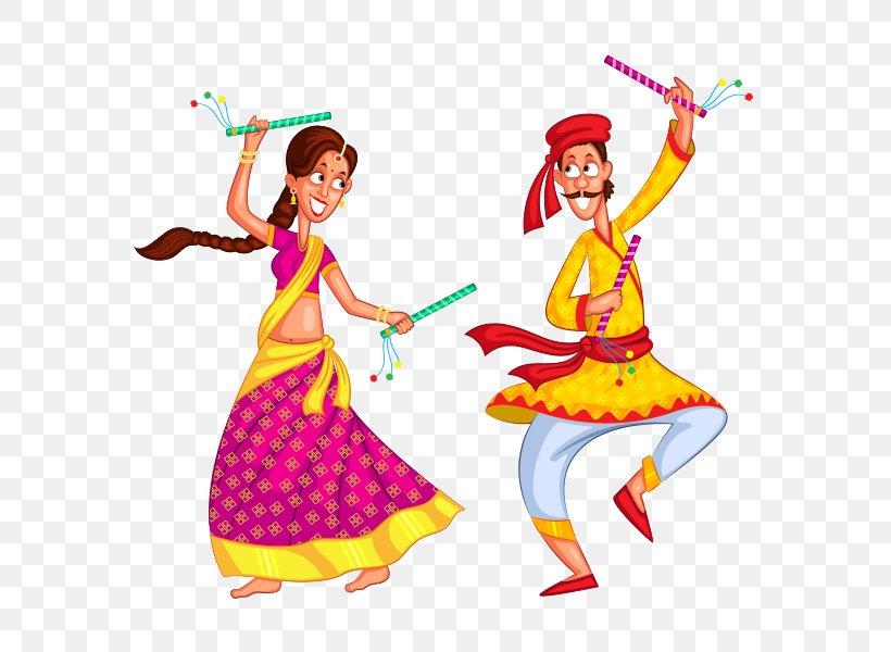 Dandiya Raas Garba Dance, PNG, 590x600px, Watercolor.