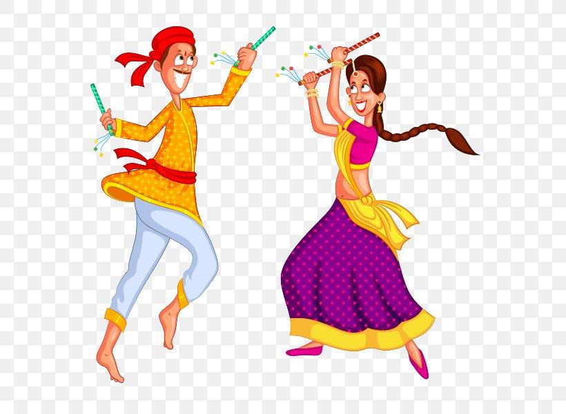 Dandiya Raas Folk Dance Garba Clip Art, PNG, 590x600px.