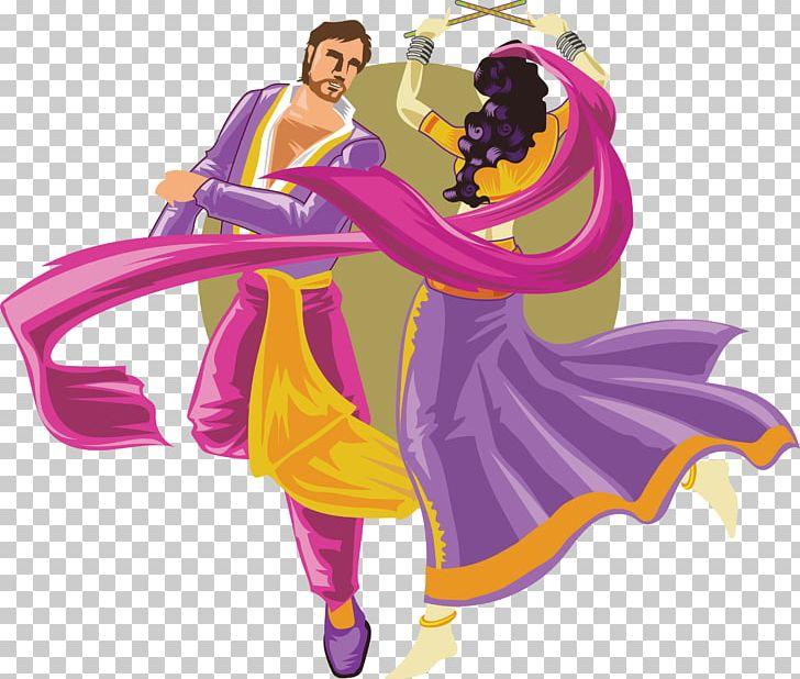 Folk Dance Garba Dandiya Raas PNG, Clipart, Bhangra, Cartoon.