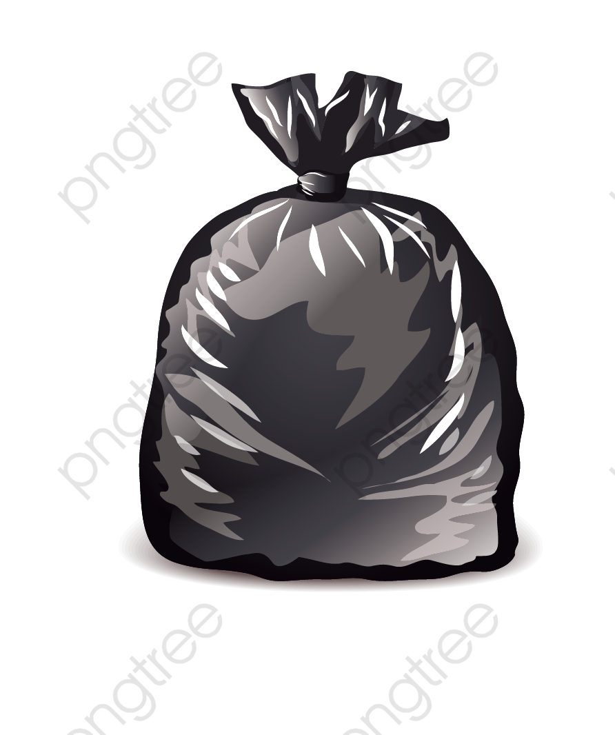 Black Garbage Bags, Black, Cartoon, Hand Painted PNG and Vector with.