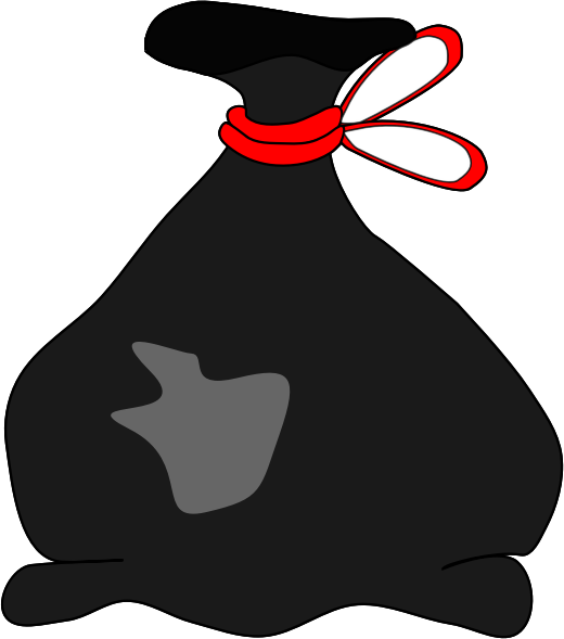 Empty garbage bag clipart.