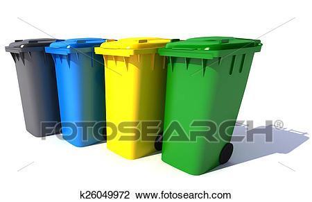 Garbage bins clipart » Clipart Portal.