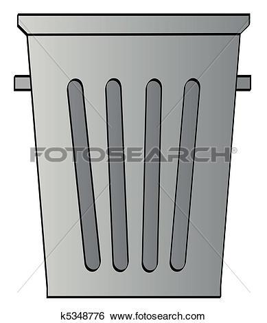 Clip Art of open trash bin k11514698.