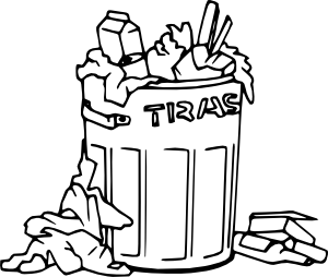 Trash Clipart Black And White.