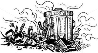 Garbage clipart black and white » Clipart Station.