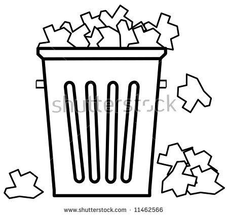 Outline Garbage Filled Top Garbage Vector Stock Vector 10801186.