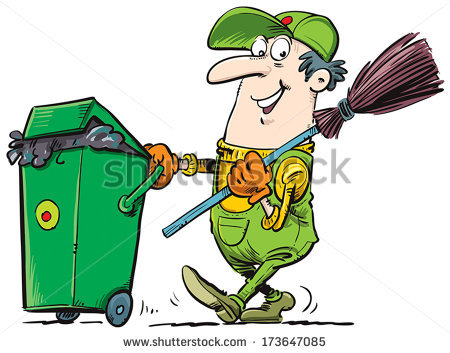Garbage Collector Stock Images, Royalty.