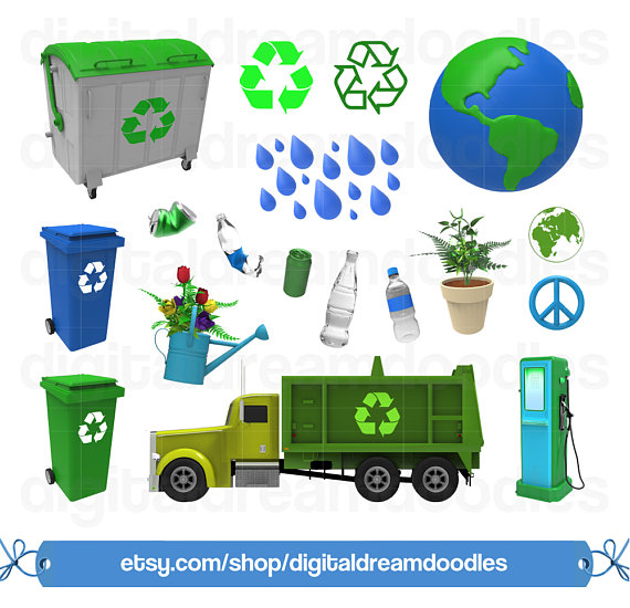 Recycle Clipart, Earth Day Clipart, Recycling Clip Art, Garbage.