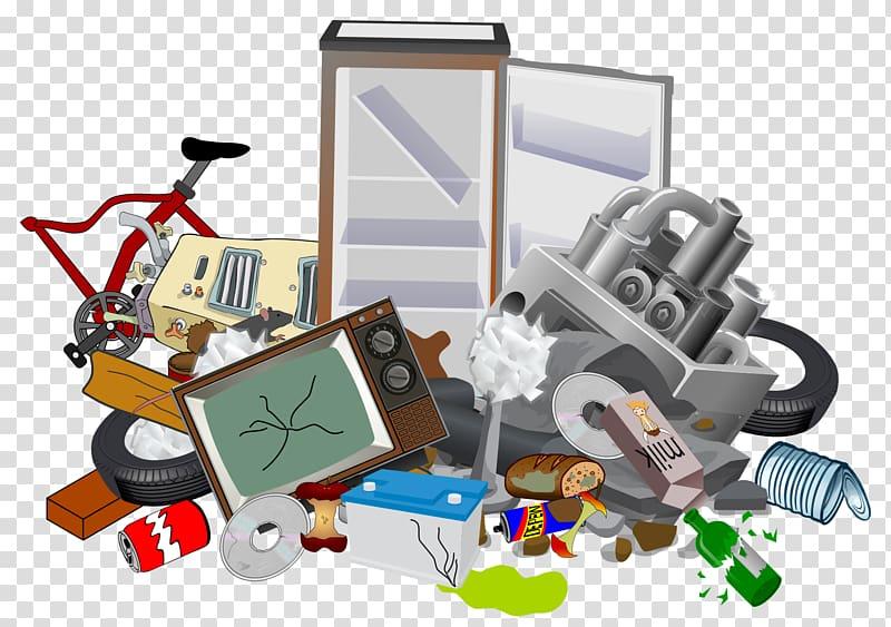 Assorted junks illustration, Snohomish Rubbish Bins & Waste.