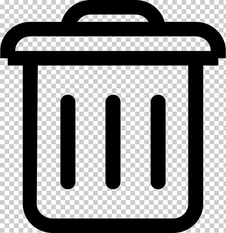 Computer Icons Black and white, Trash icon PNG clipart.