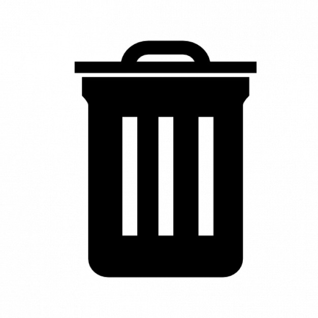 Trash bin symbol Icons.