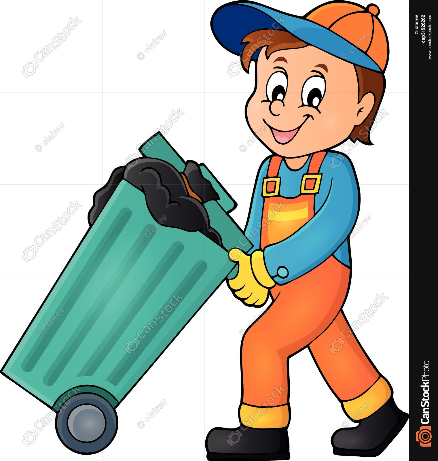 Garbage man clipart 6 » Clipart Station.