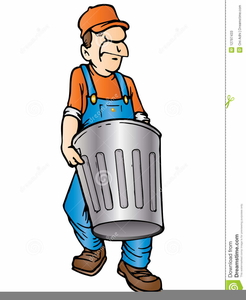 Clipart Of Garbage Man.