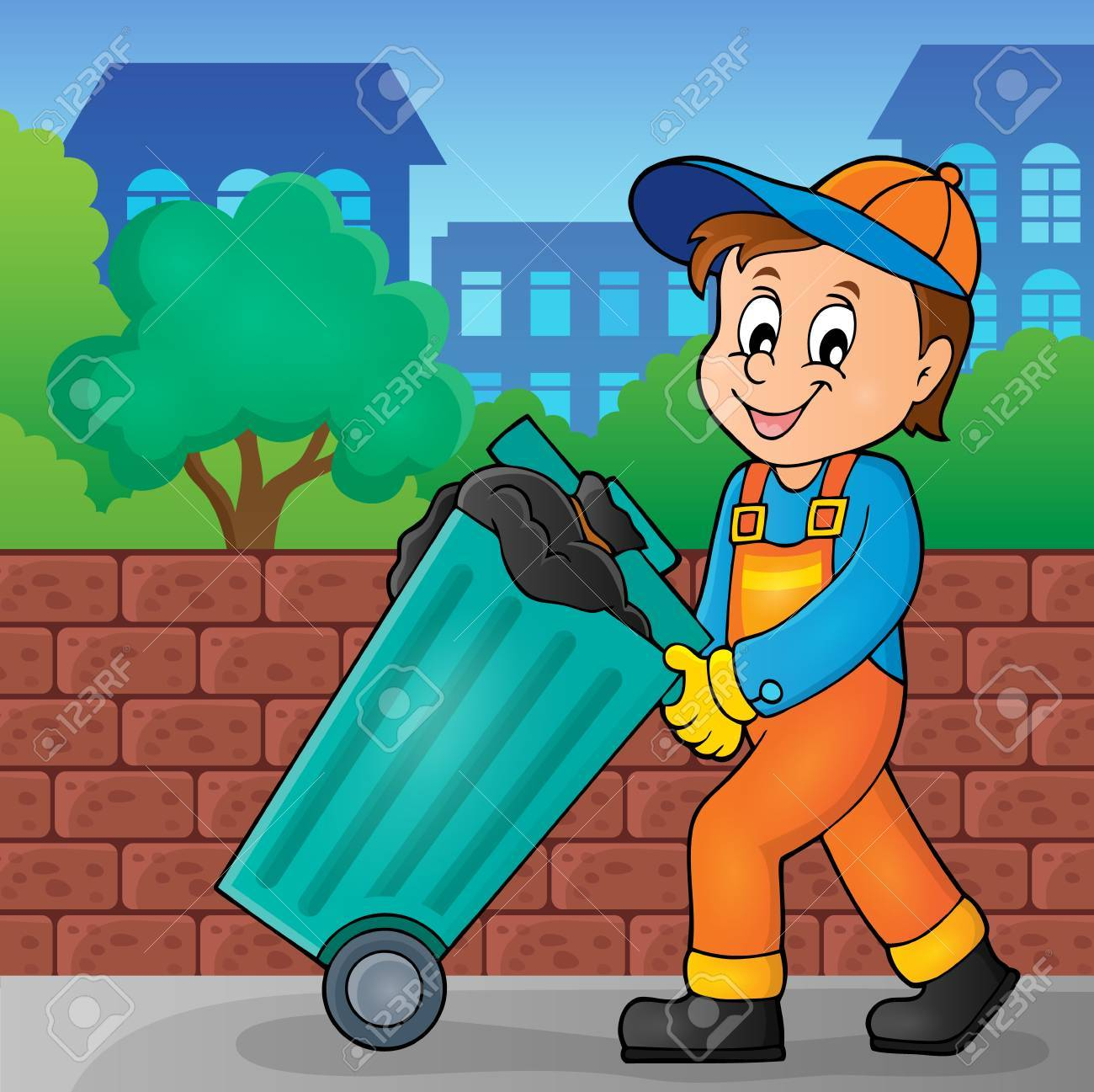 Garbage collector theme image 2.