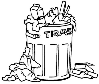 Garbage Clipart Black And White.