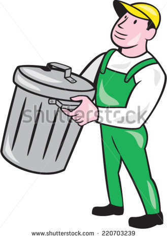 Garbage Man Stock Images, Royalty.