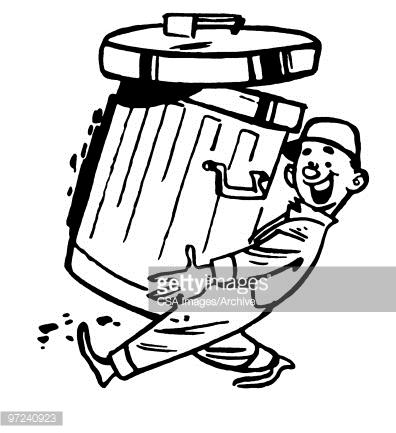 Garbage Man Stock Illustration.