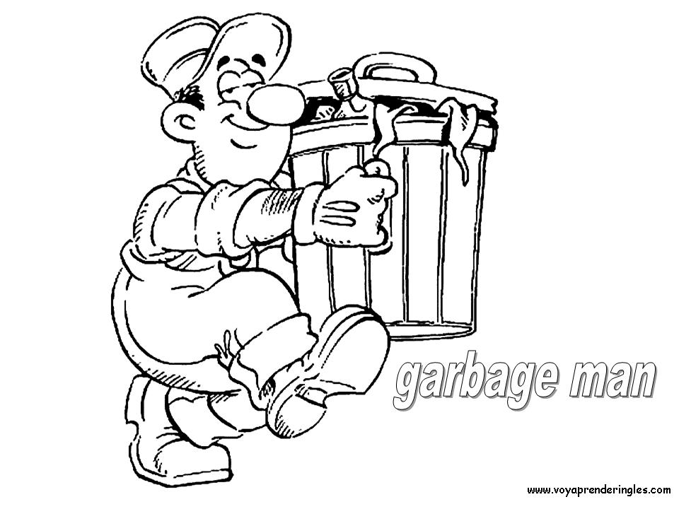 Garbage Man Clipart Black And White.