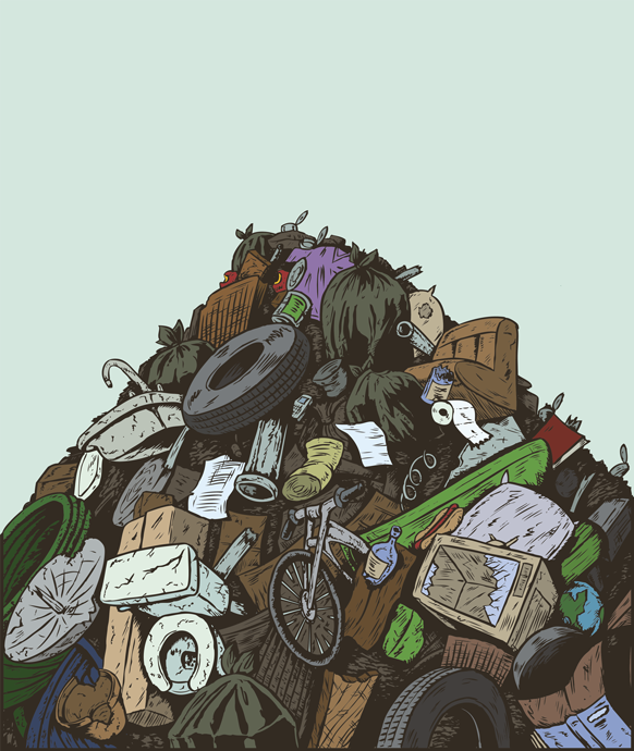 drawing of pile of trash clipart Landfill Waste Drawing.