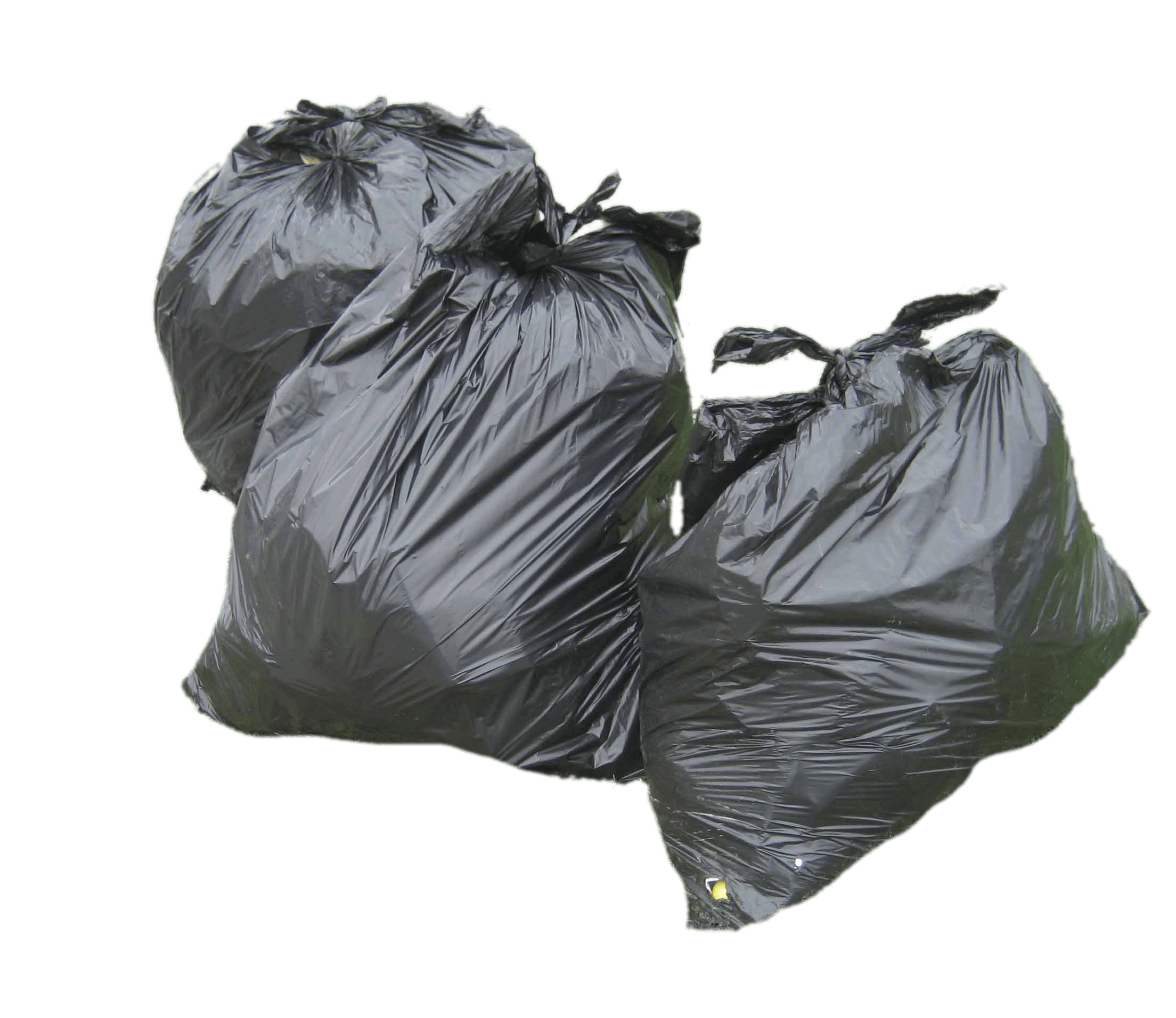 Three Garbage Bags transparent PNG.