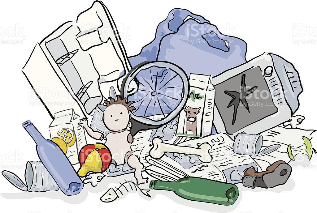 Pile Of Garbage stock vector art 165069428.