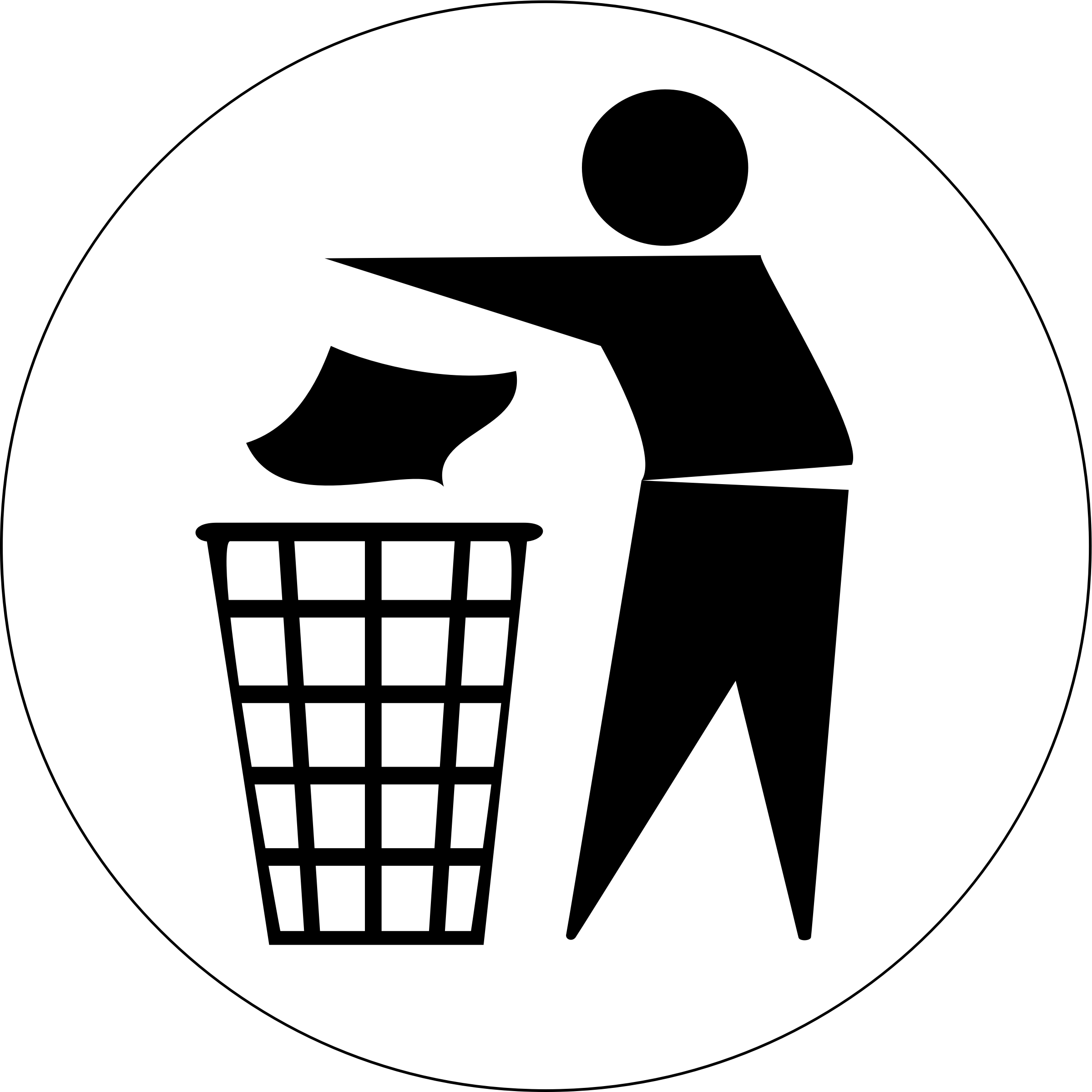 beautifulhealer Put Rubbish in Bin Signs by @doctormo, Use.
