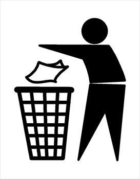 Trash sign clipart.