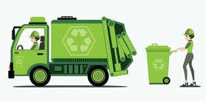 Garbage Truck Clipart And Trash.