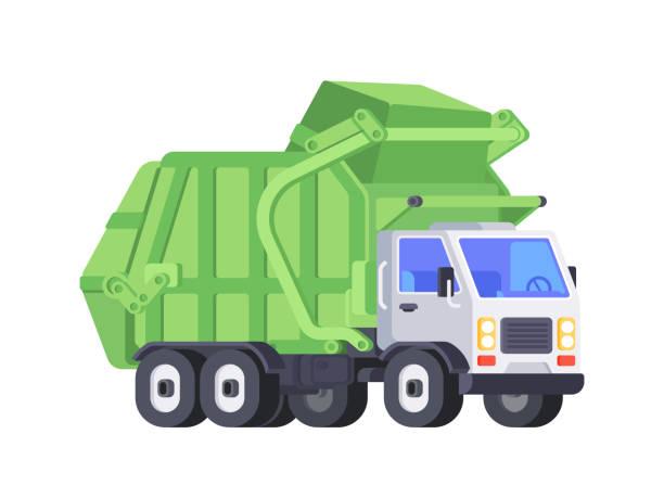 Best Garbage Truck Illustrations, Royalty.