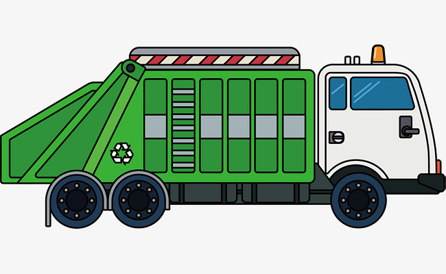Download Free png Garbage Truck Vector, Truck Clipart, Hand, Green.