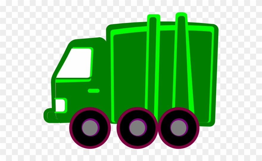 Green Garbage Truck Clipart (#710240).