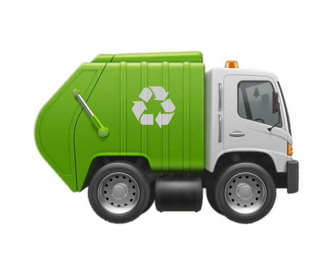 Tiny Garbage Truck transparent PNG.
