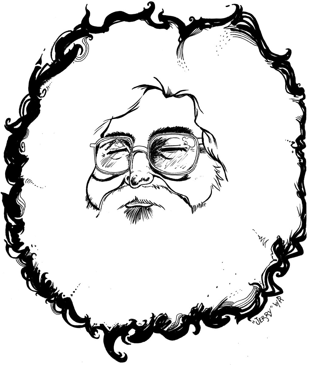 Jerry Garcia Coloring Page