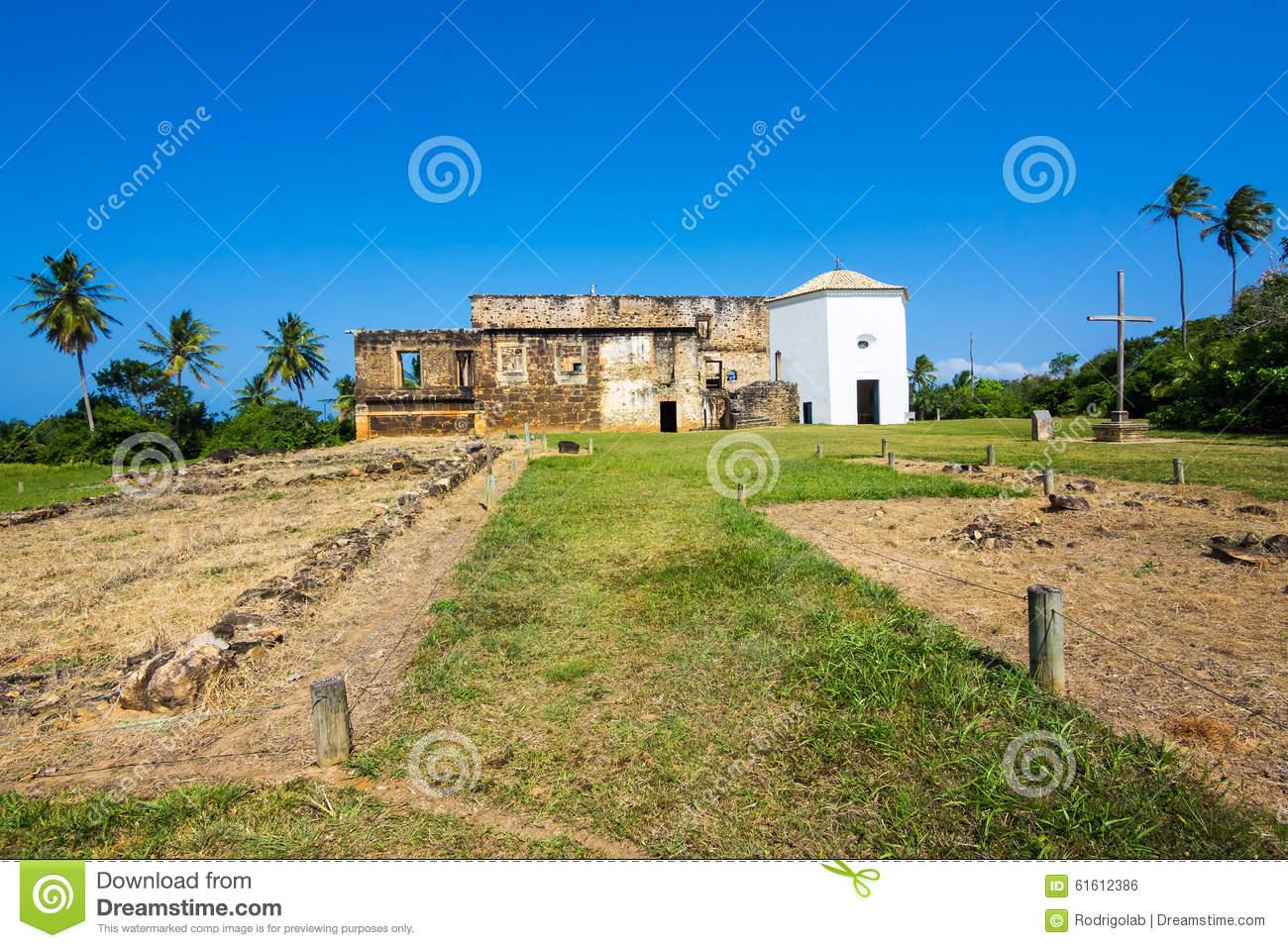 View Of Garcia D'Avila Castle, Or Casa Da Torre, In Praia Do Forte.
