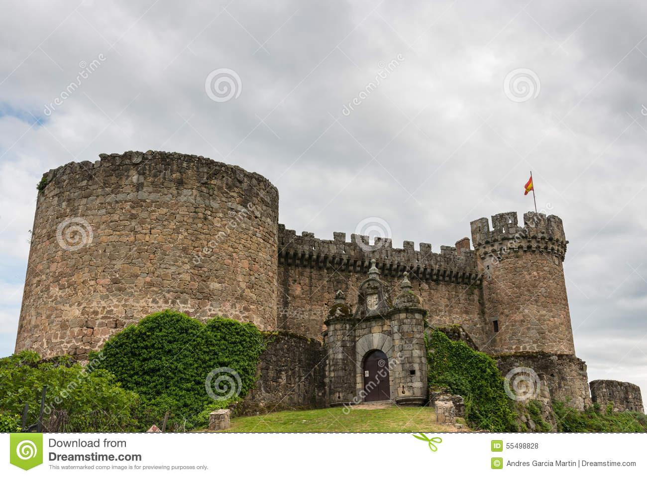 Mombeltran Castle In Avila, Spain Stock Photo.