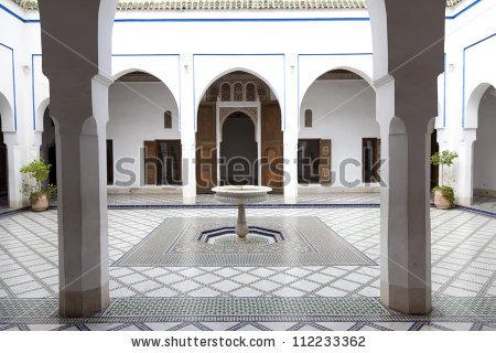 Palais De La Bahia Stock Images, Royalty.