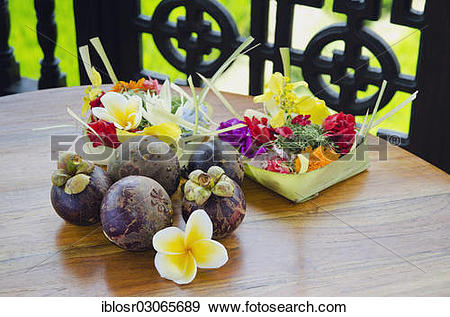 "Stock Photograph of ""Purple mangosteen fruits (Garcinia mangostana."