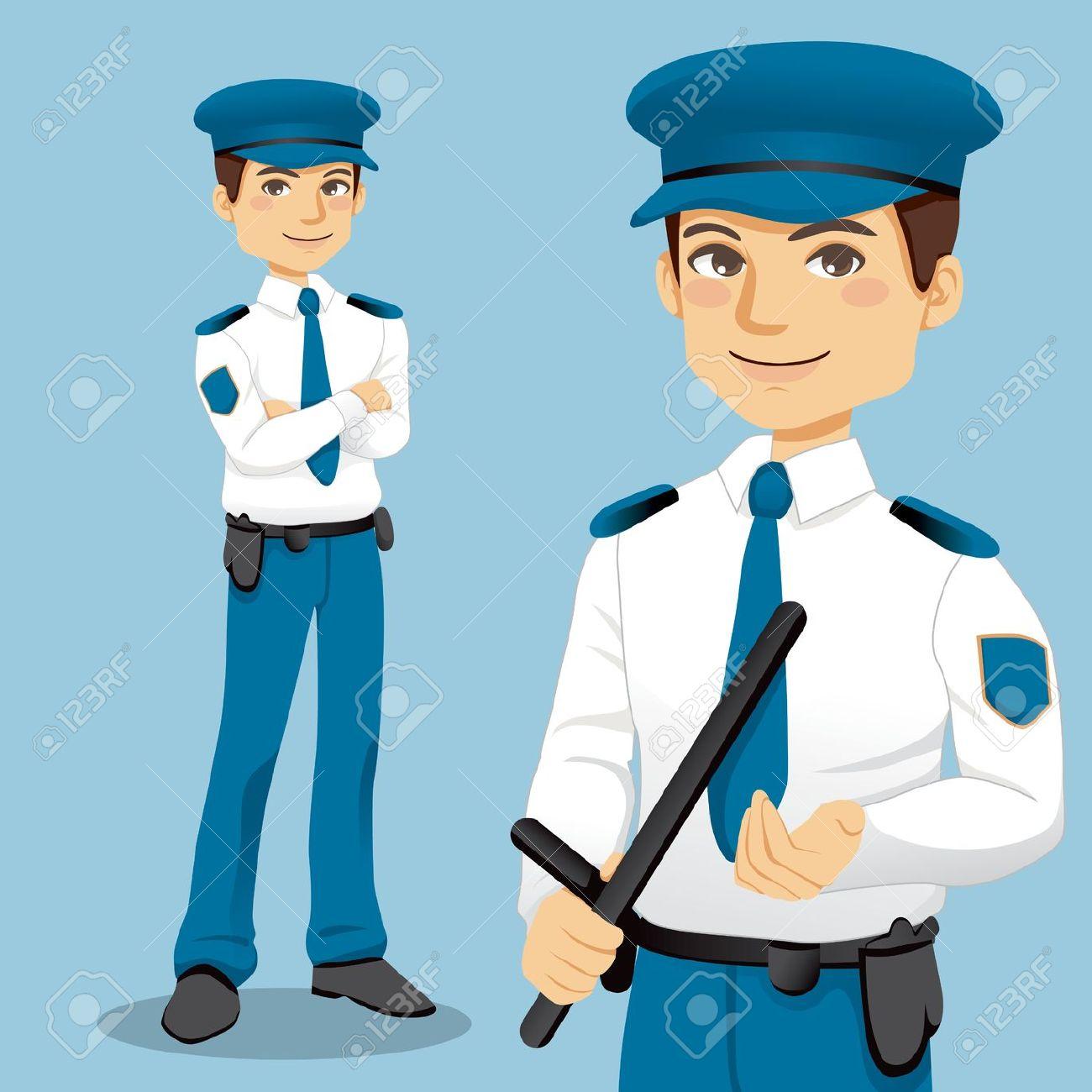 School security guard clipart.