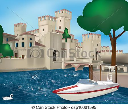 EPS Vectors of Sirmione.