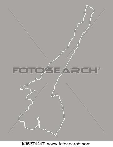 Clip Art of Map of Lake Garda k35274447.