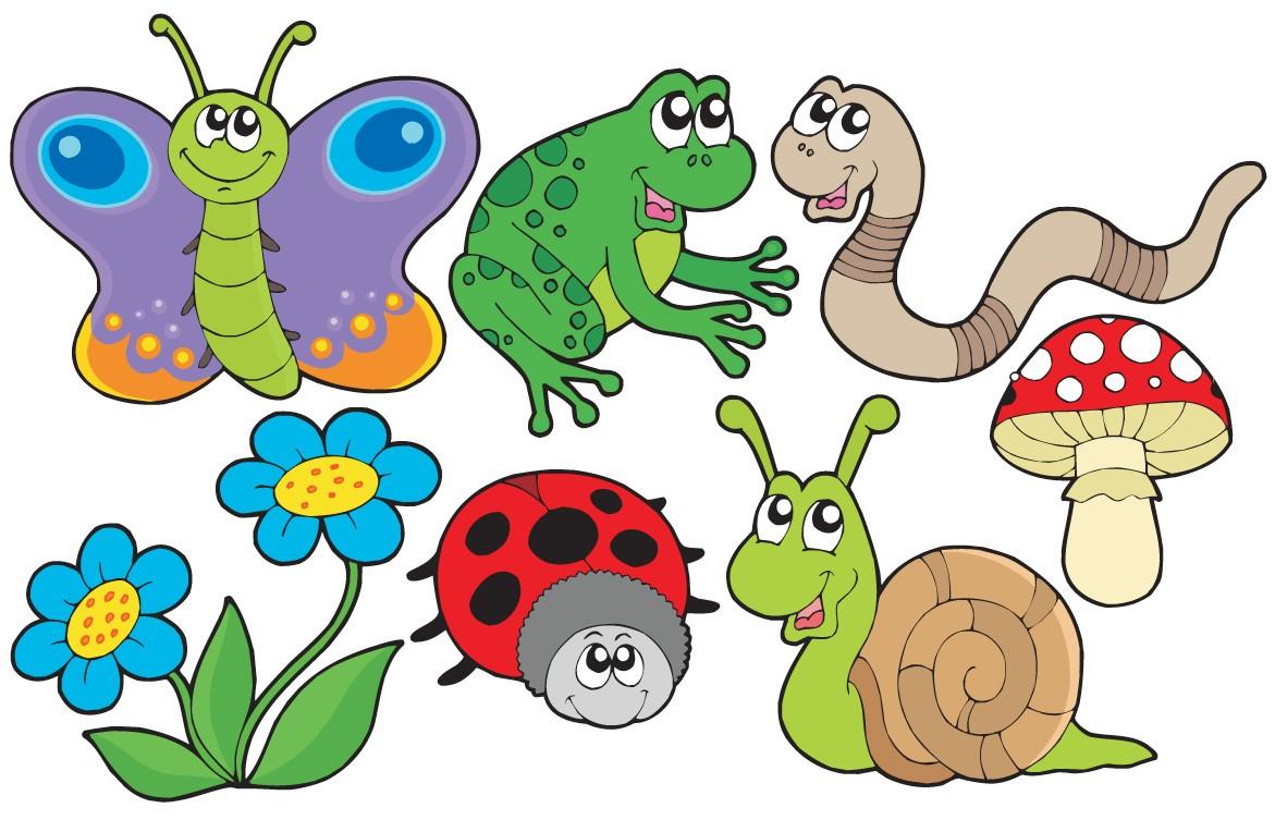 Garden Animals Clip Art.