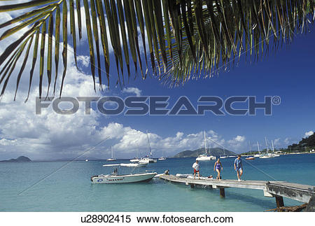 Stock Image of Tortola, British Virgin Islands, Caribbean, BVI.