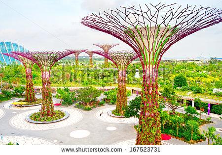 Singapore Garden Stock fotos, billeder til fri afbenyttelse og.