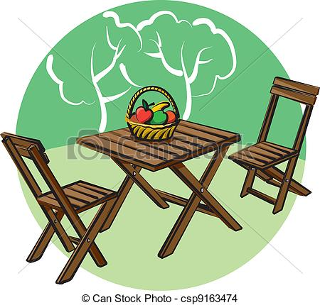 Teak Patio Furniture Clipart Clipground
