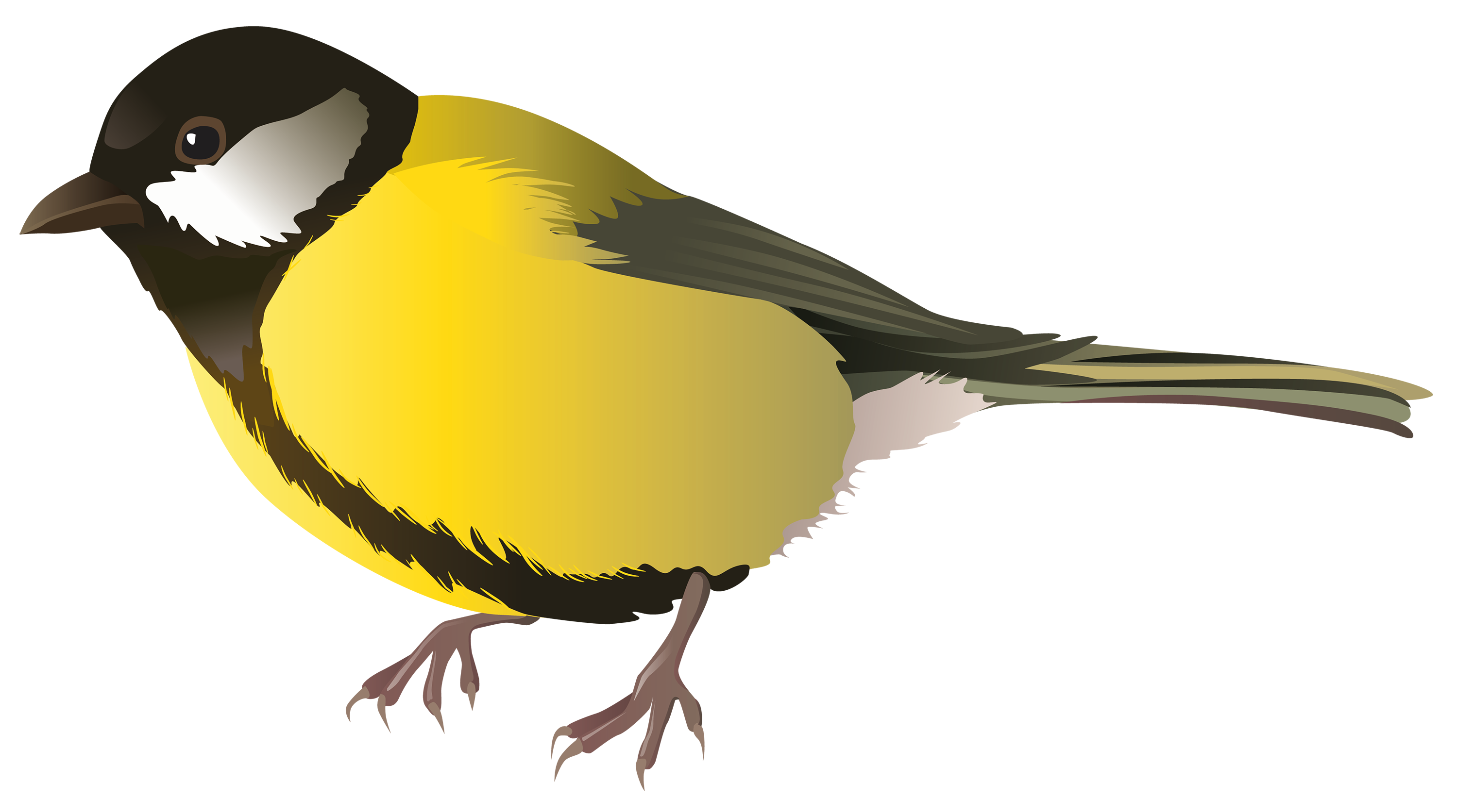 Yellow Bird PNG Clipart.