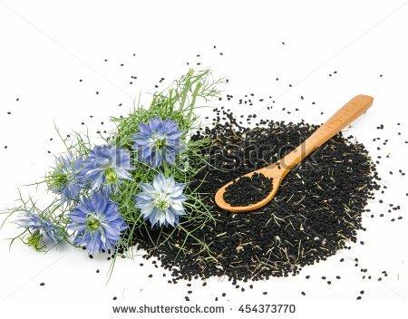 Black Cumin Flower Stock Photos, Royalty.