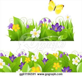 Flower Garden Borders Clipart.