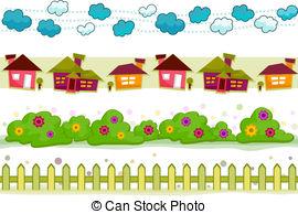 garden border design clipart #16